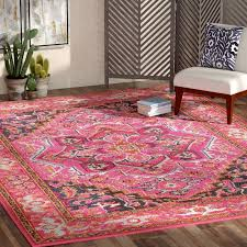 Pink Area Rug Mistana Clarke Pink Area Rug Reviews Wayfair