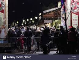 visitors queuing at the entrance to winter in hyde park
