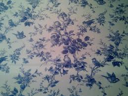 Upholstery Fabric With Birds Toile Blue And White Birds Floral 100 Cotton Branches Isabella