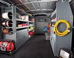 Cargo Van Shelves by Work Van Storage Van Organized Based On Repetition Of Duties