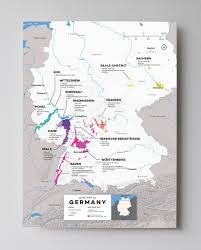 Map Of Germany Cities by Detailed Germany Wine Regions Map Wine Posters Wine Folly