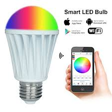 light bulbs controlled by iphone rgbw warm white magiclight wifi smart led light bulb smartphone