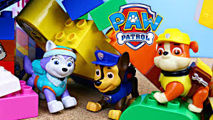 paw patrol duplo lego house collapse rescue rubble marshall