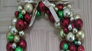 bauble wreath diy recycle youtube