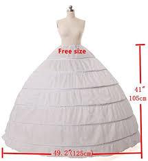 wedding dress hoop a line 6 hoop floor length bridal dress gown slip petticoat