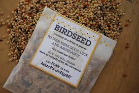 bird seed favors diy for the birds with downloadable template now including rice