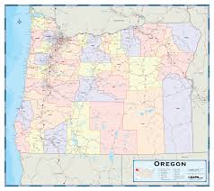 oregon county map oregon counties wall map maps