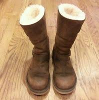 s ugg australia kensington boots ugg kensington toast brown leather winter boots s n 5678 sz 8 ebay