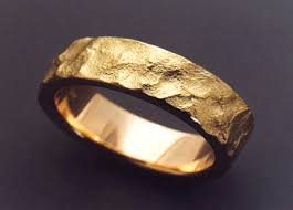 gold band uniquely textured 18k gold wedding band metamorphosis