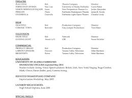 Film Resume Template Word Download Professional Resume Template Word 2010