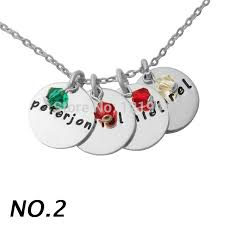 s necklace with names aliexpress buy personalised layered stylish stack disc name