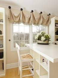 kitchen window valances ideas tutorial how to make a no sew diy burlap window valance sewing