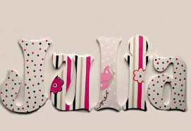 julia custom painted decorative hanging wood wall letters