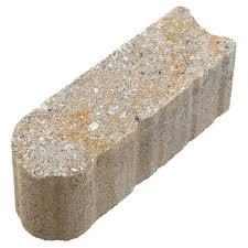 pavestone edgestone 12 in x 3 5 in x 3 5 in limestone concrete