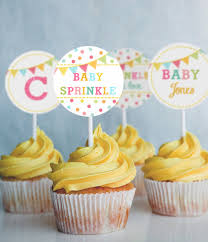 unisex baby shower sprinkle baby shower cupcake toppers set of 12 unisex baby