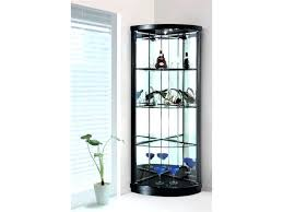 Wall Curio Cabinet With Glass Doors Small Cabinet With Glass Doors Black Display Cabinet Small