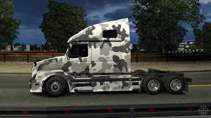 2016 volvo semi truck vnl 670 urban camo skin for euro truck simulator 2