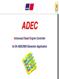 adec advancet diesel engine controller for br 4000 and br 2000