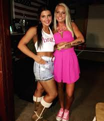 bratz doll and barbie doll halloween costume idea very clever