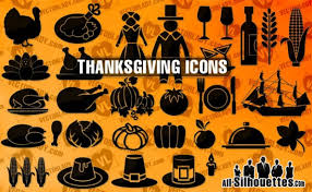 thanksgiving day symbols vector free