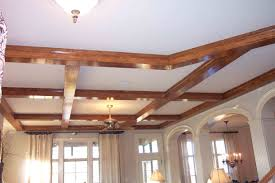 Decorative Beams Decoration Painted White Color Basement Tray Ceiling Tiles With