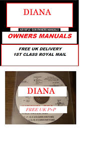 diana airgun air rifle gun owners manuals exploded diagrams