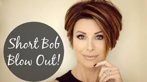 short hairstyles for women showing front and back views short bob blow out for sleek volume youtube