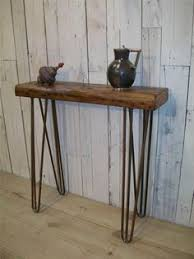 Hairpin Leg Console Table Reclaimed Wood Hairpin Leg Patchwork Console Table Hairpin Legs
