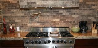 faux kitchen backsplash faux brick backsplash in kitchen kenangorgun