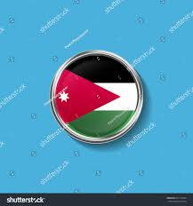Flag Jordan Circle Flag Jordan Stock Illustration 631176344 Shutterstock