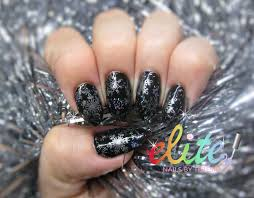 black christmas gothic nails snowflakes frost glitter cnd shellac