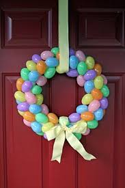 how to make an easter egg wreath easter craft ideas easter wreaths and plastic easter eggs
