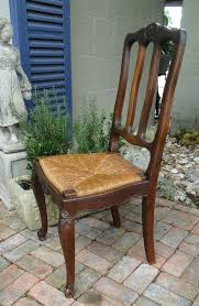 French Dining Chairs Antique French Dining Chairs Rush Seats Shells Tall Carved Back