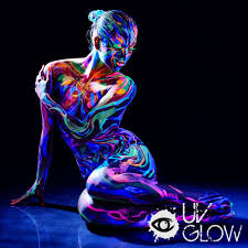 By The Light Of The Halloween Moon Amazon Com Uv Glow Blacklight Face And Body Paint 0 34oz Set