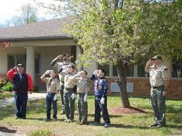 Kentucky Flags Local Boy Scouts Dav Dedicate New American Ky Flags In Edmonson