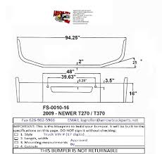 kenworth parts catalog bumpermaker kenworth t270 u0026 t370 bumper
