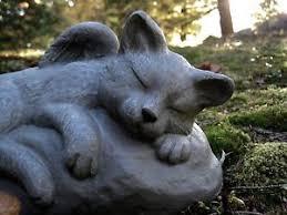 cat memorial cat angel statue concrete cat memorial cement angel cats cat