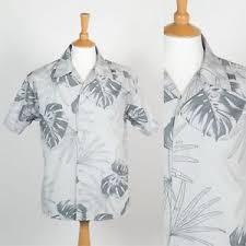 mens retro 00 s y2k hawaiian shirt sleeve open collar palm