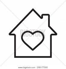 house inside linear icon vector photo bigstock