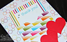 get crafty with lisa sweet taffy thank you card with faux library