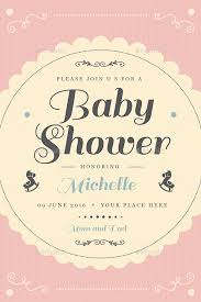 vintage baby shower invitation card by guuver graphicriver