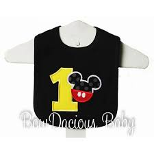 1st birthday bib mickey mouse birthday bib