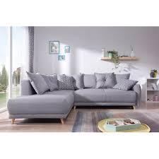 canapé d angle gris bobochic lena canapé scandinave d angle gauche gris foncé