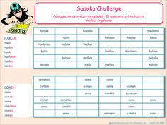 Challenge Que Es Me Encanta Escribir En Español Sudoku Challenge El Presente