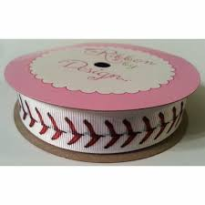 baseball ribbon stitch grosgrain ribbon 2 sizes