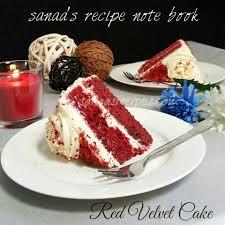 red velvet cake sanaa u0027s recipe note book original signature