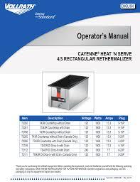 vollrath steam table manual vollrath t 43r operator s manual