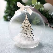Music Themed Christmas Tree Decorations Uk by Personalised Christmas Tree Decorations And Baubles