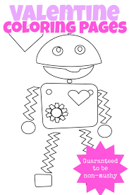 3 mushy valentines coloring pages