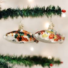 koi fish ornaments glass tree ornament by world
